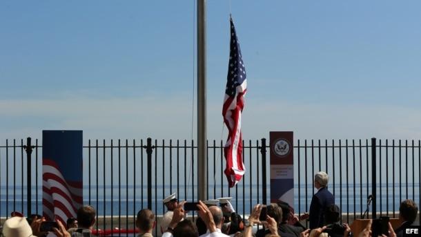 Así fue la ceremonia de reapertura de la Embajada de EEUU en Cuba