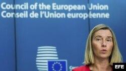 La alta representante de la Unión Europea (UE) para la Política Exterior, Federica Mogherini.