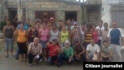 Opositores del Frente Antitotalitario Unido (FANTU), en Santa Clara.