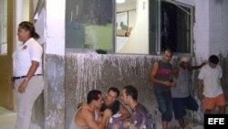 imágen de archivo de emigrantes cubanos ilegales en Cancún, México