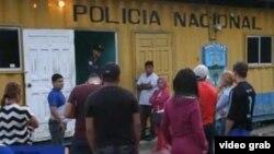El punto de control de aduana de Agua Caliente, en Honduras.