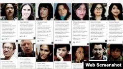 Los 100 héroes de la información en el 2014.
