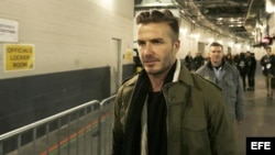 El exfutbolista David Beckham.