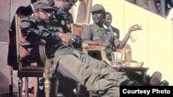 Fidel Castro en Etiopía con Mengistu