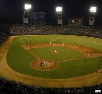 Vista general del estadio Latinoamericano en La Habana