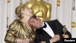 """Meryl Streep, gana el premio a la Mejor Actriz por su actuación en la película """"The Iron Lady"""""""