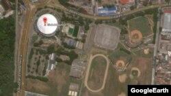Vista aérea de la Ciudad Deportiva de La Habana, donde se anuncia el primer concierto de los Rolling Stones en Cuba.