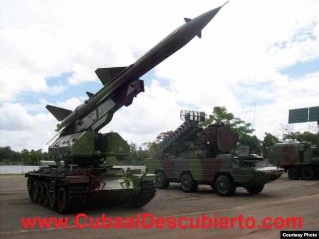 """armas """"obsoletas"""": misil antiaéreo Volga, base de Managua (foto Cuba al Descubierto)"""