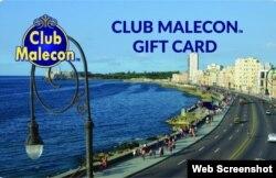 Tarjeta Club Malecon Foto OnCuba
