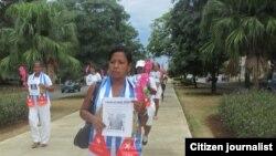 Las marchas de la Dama de Blanco María Josefa Acón por la libertad