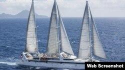 Velero insignia Le Ponant, de la empresa de cruceros de lujo Ponant.