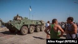 Tropas ucranianas en estado de alerta.