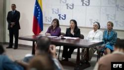 La presidenta del Tribunal Supremo de Justicia de Venezuela, Luisa Estella Morales, en una rueda de prensa en Caracas (Venezuela)