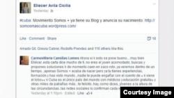 Página de Facebook de Somos+