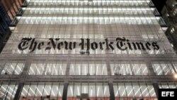 """Fotografía de archivo del edificio sede de """"The New York Times"""" en Nueva York. EFE/JUSTIN LANE."""
