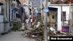 Imágenes del ciclón Sandy.