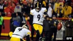 Chris Boswell, pateador de los Steelers.