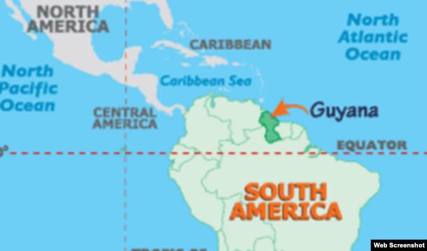 De Cuba a Guyana.