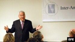 Gonzalo Sánchez de Lozada en las oficinas del Inter-American Dialogue, en Washington DC, EEUU.
