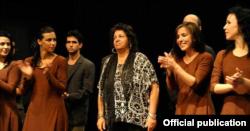 Isabel Bustos del grupo Retazos, un proyecto danzario con la ayuda de Oikos.