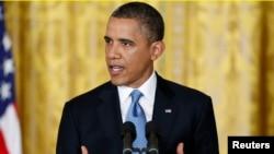 El presidente Barack Obama habla durante la última conferencia de prensa de su primer mandato.