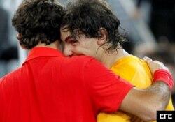 (i-e) Federer y Nadal.