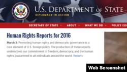 Presentación del reporte de DDHH del Departamento de Estado.