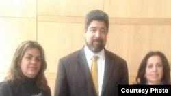 Sara Marta Fonseca, Jonh Suárez y Janisset Rivero.