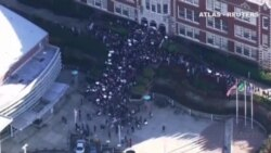 Protestas de estudiantes estadounidenses contra el presidente electo, Donald Trump