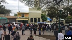 Cubanos en Nuevo Laredo, México