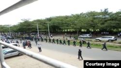 Foto tomada desde la sede de RPA en Burundi.
