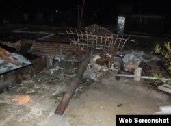 Tornado en Centro Histórico de Camagüey deja afectaciones eléctricas. Foto Radio Cadena Agramonte