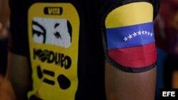 Seguidores de Nicolás Maduro en la parroquia 23 de enero, en Caracas (Venezuela).