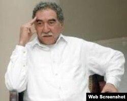 Estatua de Cera de Gabriel García Márquez en Bayamo.