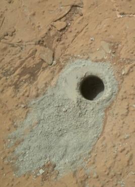 La roca cráter Gale revela fluctuaciones de metano en Marte.
