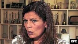 Fotografía de archivo cedida por el diario Clarín donde aparece Miriam Quiroga, exsecretaria del fallecido expresidente argentino Néstor Kirchner.