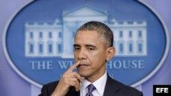 Rueda de prensa del presidende de EEUU, Barack Obama, este jueves 17 de abril de 2014
