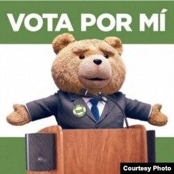 En este meme, el irreverente osito Ted se disputa los votos venezolanos.