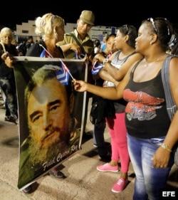 Ceremonia de despedida a Fidel Castro en la Plaza de la Revolución Antonio Maceo de Santiago de Cuba.