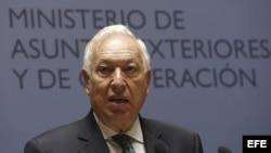 El ministro de Asuntos Exteriores, José Manuel García-Margallo, en una rueda de prensa reciente.