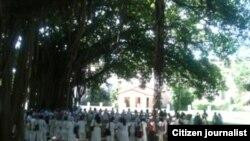Reporta Cuba. Damas en el parque Gandhi, octubre 26. Foto: AEscobedo.