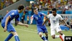 Jugadores de Inglaterra e Italia