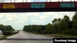 Carretera Ranchuelo Cienfuegos Cuba.