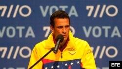 Foto de archivo del líder opositor venezolano, Henrique Capriles.
