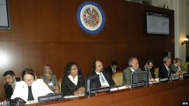 La Comisión Interamericana de Derechos Humanos (CIDH) celebra una sesión en Washington (EEUU).
