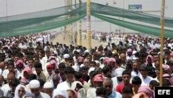 Iraquíes suníes participan en una protesta contra el Gobierno en Faluya, al oeste de Irak.