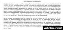 Fragmento de las Conclusiones Provisionales del Fiscal que implica a Yasiel Puig.