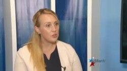 Lydia Barraza portavoz del Departamento de Estado de EEUU sobre las visas en Guyana