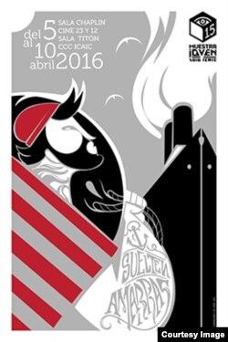 Cartel de la XV Muestra de Cine Joven.