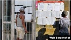 Votantes leen las listas de candidatos a delegados a las elecciones municipales en Cuba. (Archivo)